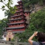 Umflutet vom Yangtse - die rote Pagode