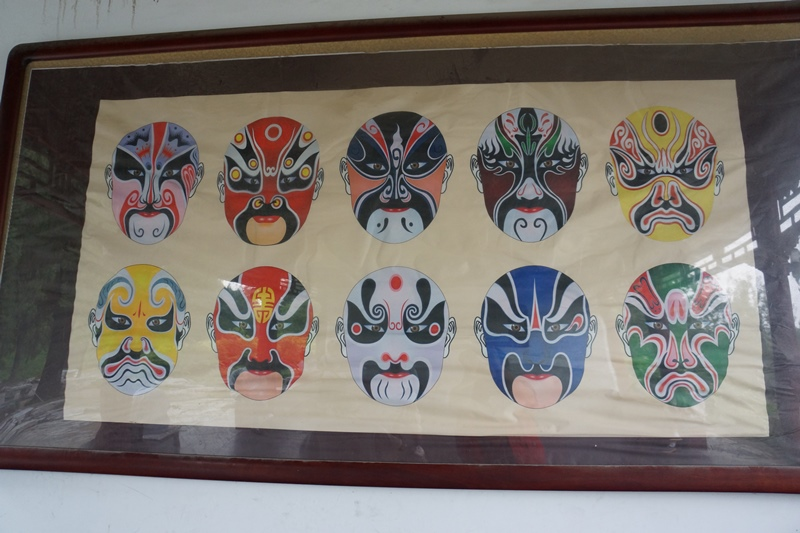 Bemalte Gesichter zur Peking-Oper